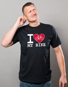 Pánské sportovní tričko Cyklistika - Cyklistické srdce