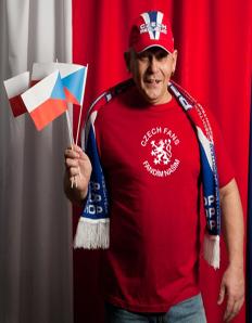 Pánské sportovní tričko Pro fanoušky - Czech fans