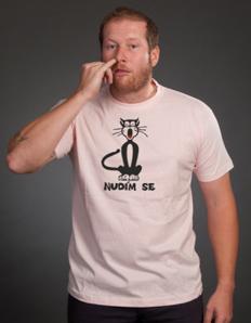 Pánské tričko s potiskem Nuda