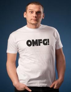 Pánské tričko s potiskem OMFG