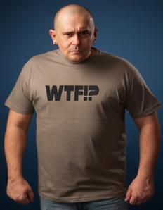 Pánské tričko s potiskem WTF