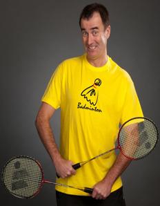 Pánské sportovní tričko Badminton – Míček