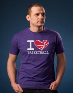 Pánské sportovní tričko Basketbal - Basketbal srdce
