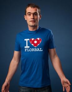 Pánské sportovní tričko Florbal – Florbal srdce