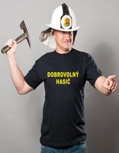 Pánské sportovní tričko Hasičská – Dobrovolný hasič
