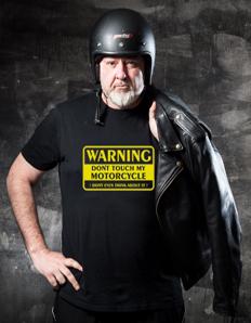 Pánské sportovní tričko Motorkářské – Moto warning