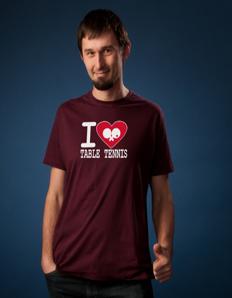 Pánské sportovní tričko Stolní tenis – Pingpongové sdrce