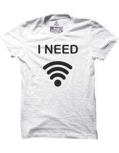 Pánské tričko s potiskem I need WIFI