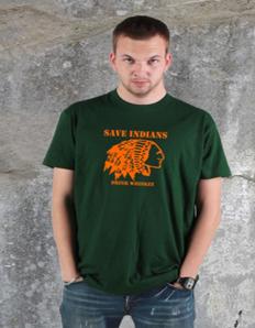 Pánské tričko s potiskem Indian