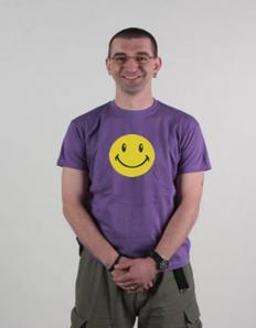 Pánské tričko s potiskem Smile