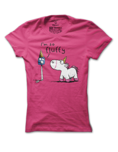 Dámské tričko s potiskem I´m so fluffy