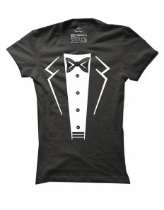 Dámské tričko s potiskem Suit-bow tie