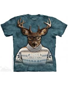 Dámské tričko s potiskem Christmas Reindeer