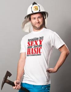 Pánské sportovní tričko Hasičské – Sexy hasič