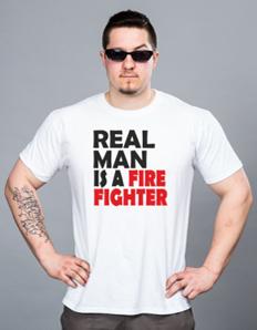 Pánské sportovní tričko Hasičské – Real firefighter