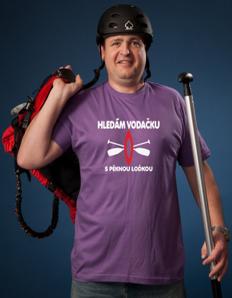 Pánské sportovní tričko Vodácké - Hledám vodačku