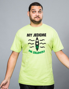 Pánské sportovní tričko Vodácké – Na zelenou
