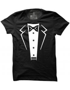 Pánské tričko s potiskem Suit-bow tie