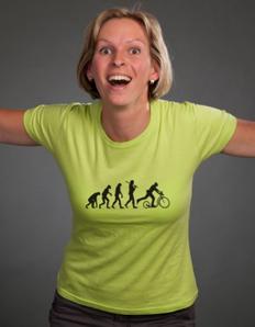 Dámské sportovní tričko Koloběžka – Koloběžka evoluce