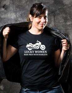 Dámské sportovní tričko Motorkářské - Ride Harley