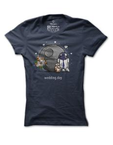 Dámské tričko s potiskem Droid wedding day