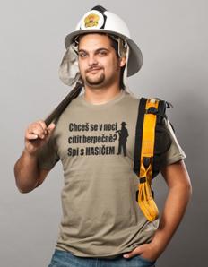 Pánské sportovní tričko Hasičské – S hasičem