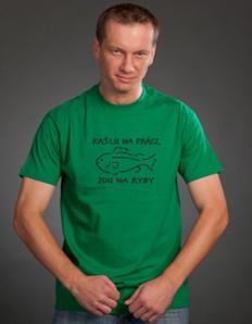 Pánské sportovní tričko Rybářské – Kašlu na práci, jdu na ryby