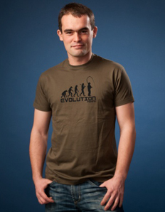 Pánské sportovní tričko Rybářské – Rybářská evoluce