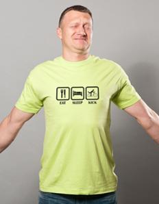 Pánské sportovní tričko Koloběžka – Koloběžka eat