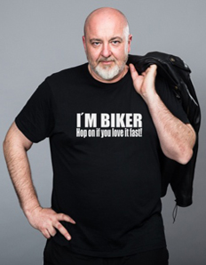 Pánské sportovní tričko Motorkářské – Biker fast