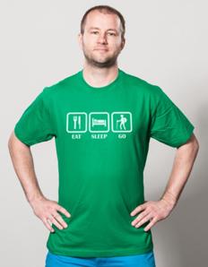 Pánské sportovní tričko Turistika – Eat turistika