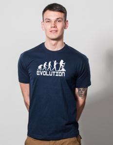 Pánské sportovní tričko Turistika – Evoluce turistika