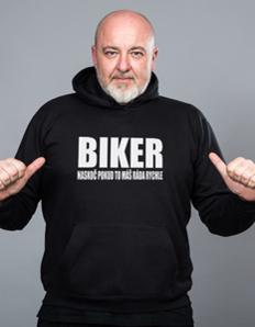 Sportovní mikina s potiskem Motorkářská – Biker rychle