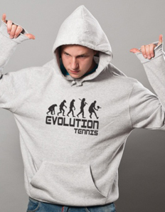 Sportovní mikina s potiskem Tenis – Tenis evoluce