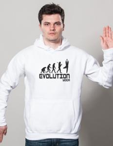 Sportovní mikina s potiskem Yoga – Yoga evoluce