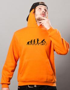 Sportovní mikina s potiskem Koloběžka – Koloběžka evoluce