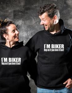Sportovní mikina s potiskem Motorkářská – Biker fast