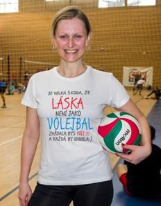 Dámské sportovní tričko Volejbal – Volejbal láska