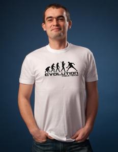 Pánské sportovní tričko Stolní tenis – Pinec evoluce