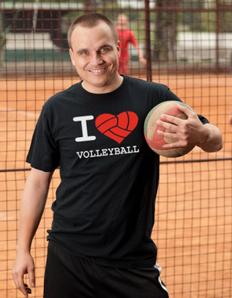 Pánské sportovní tričko Volejbal – Volej srdce