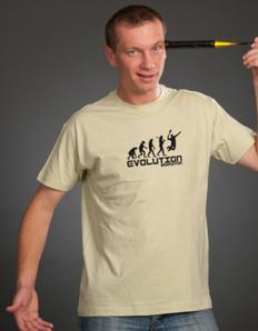 Pánské sportovní tričko Badminton – Badminton evoluce
