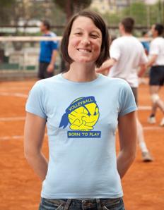 Dámské sportovní tričko Volejbal – Volleyball born