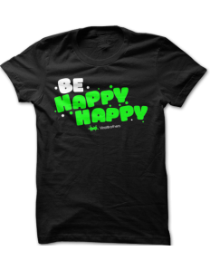 Dámské tričko ViralBrothers - Be Happy