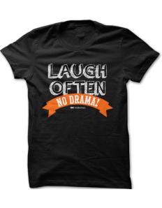 Dámské tričko ViralBrothers - Laugh often no drama