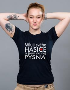 Dámské sportovní tričko Hasičské - Miluji svého hasiče