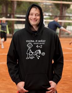 Sportovní mikina s potiskem Volejbal – Volejbal je skvělej
