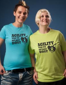 Dámské sportovní tričko Pejskaři – Agility mě baví