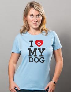 Dámské sportovní tričko Pejskaři – I love my dog