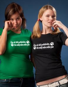 Dámské sportovní tričko Pejskaři – Raději psa