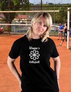Dámské sportovní tričko Volejbal – Women´s volleyball